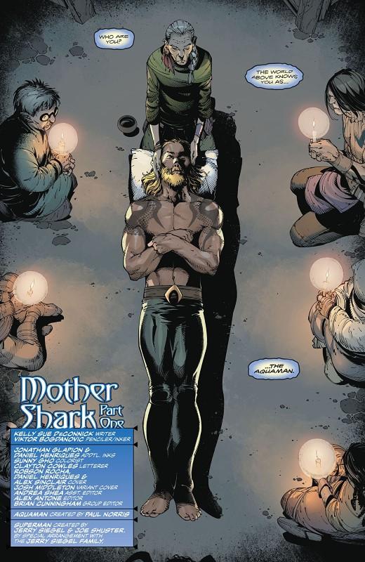 Aquaman #48 art by Viktor Bogdanovic, Jonathan Glapion, Daniel Henriques, Sunny Gho, and letterer Clayton Cowles