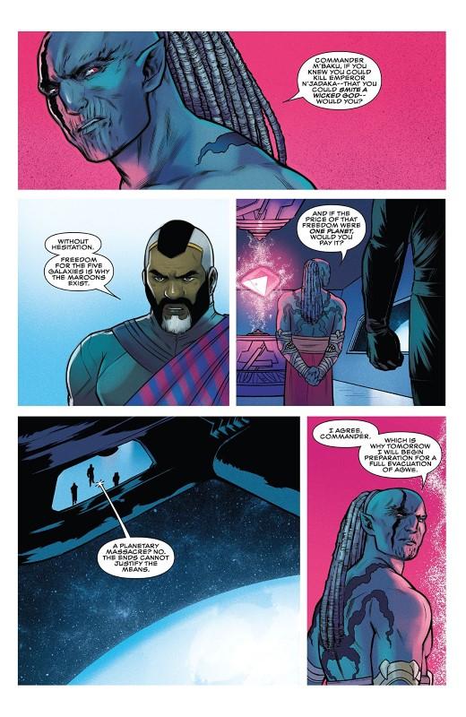Black Panther #12 art by Jen Bartel, Kris Anka, Triona Farrell, and letterer VC's Joe Sabino