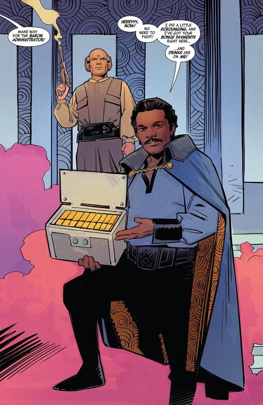 Star Wars Age of Rebellion: Lando Calrissian #1 art by Matteo Buffagni, Tamra Bonvillain, and letterer VC's Travis Lanham