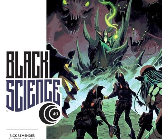 Black Science #40 cover by Matteo Scalera and Moreno Dinisio