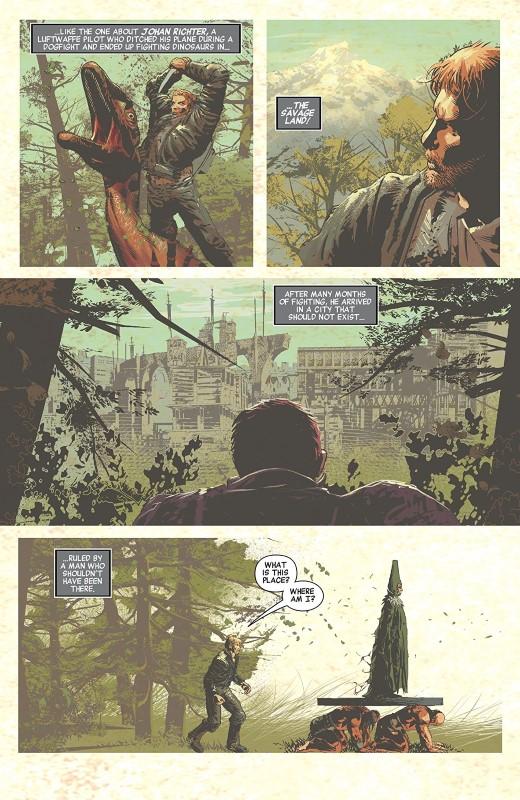 Savage Avengers #2 art by Mike Deodato Jr., Frank Martin, and letterer VC's Travis Lanham