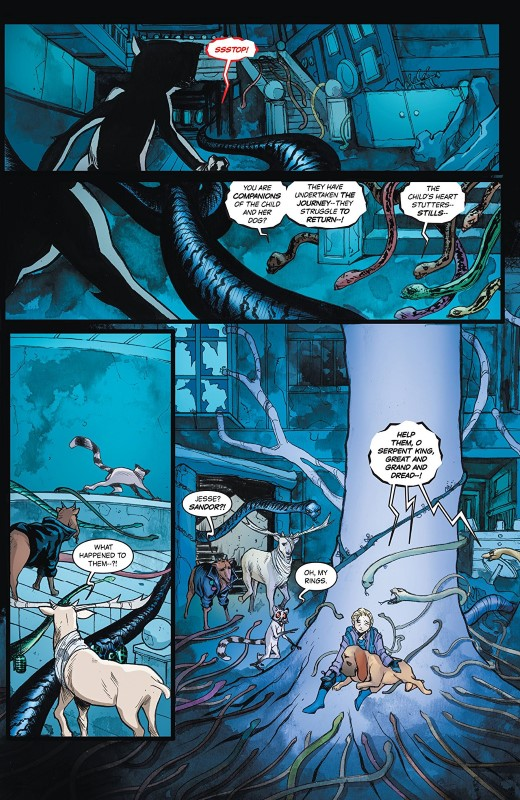 Animosity #22 art by Elton Thomasi, Rob Schwager, DC Alsonso, and letterer Taylor Esposito