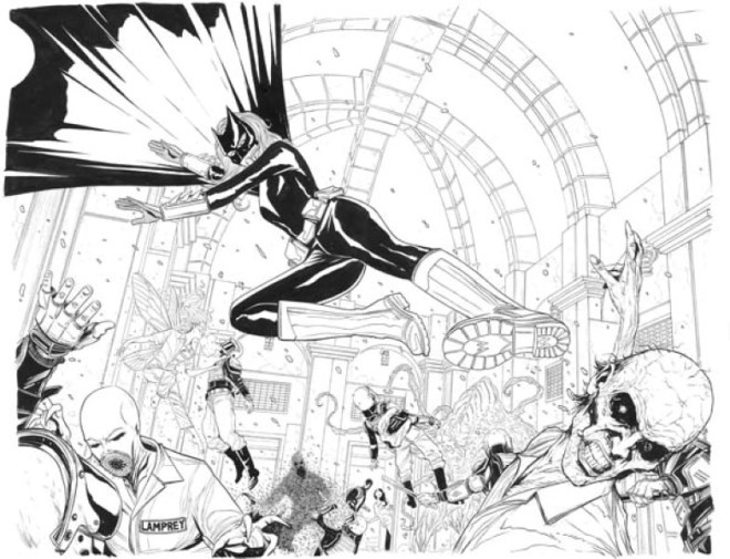 Artwork from New 52 Batwoman #30 by Jeremy Haun
