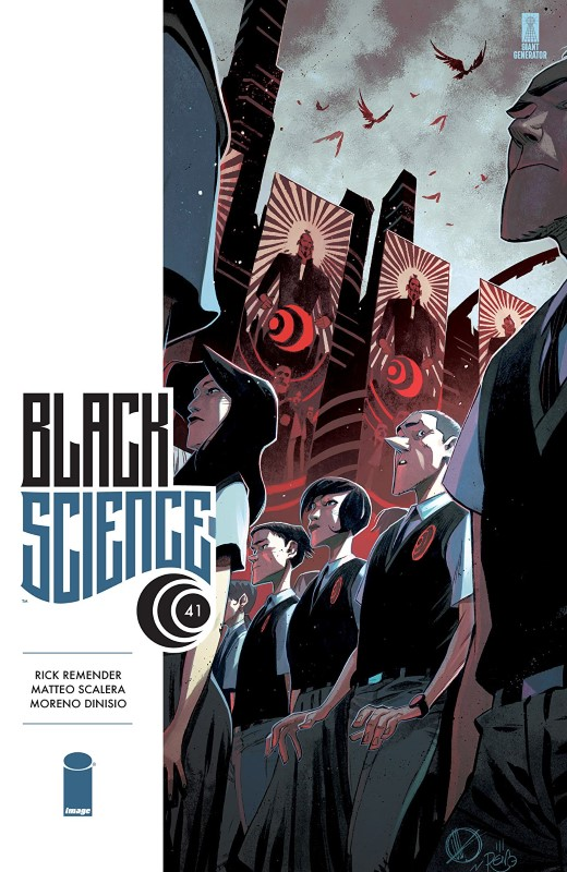 Black Science #41 cover by Matteo Scalera and Moreno Dinisio