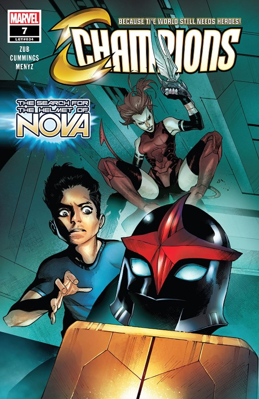 Champions #7 cover by Kim Jacinto and Stéphane Paitreau