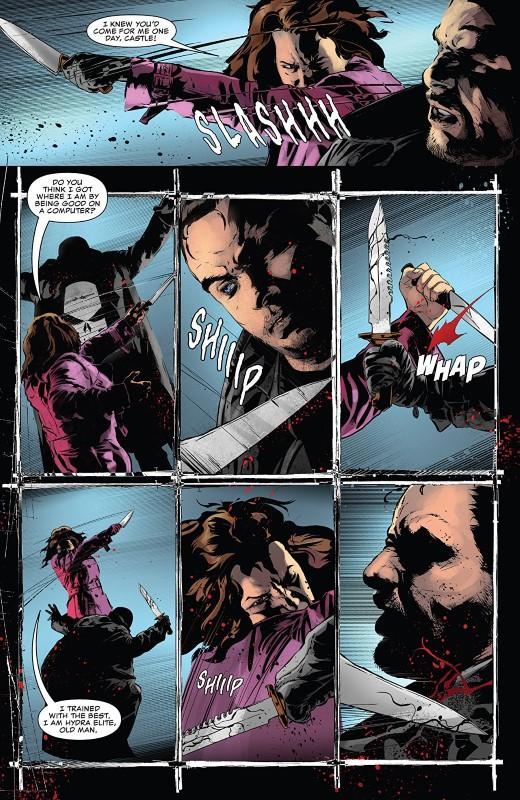 The Punisher #13 art by Szymon Kudranski, Antonio Fabela, and letterer VC's Cory Petit