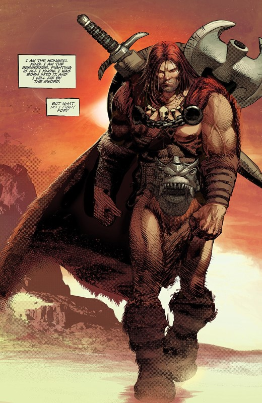 Berserker Unbound #1 art by Mike Deodato Jr., Frank Martin, and letterer Steve Wands