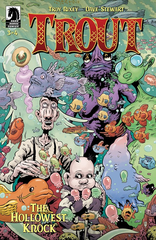 Trout: The Hollowest Knock #3 cover by Troy Nixey and Dave Stewart