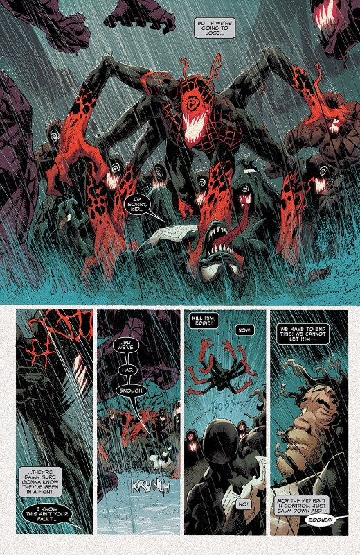 Absolute Carnage #3 art by Ryan Stegman, JP Mayer, Frank Martin, and letterer VC's Clayton Cowles
