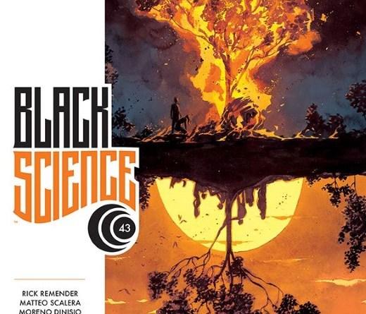 Black Science #43 cover by Matteo Scalera and Moreno Dinisio