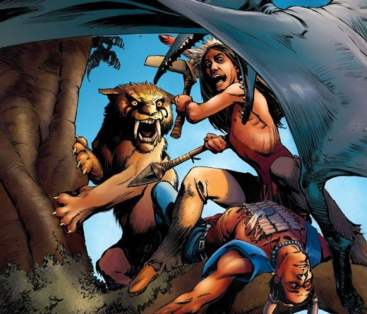 Turok #5 cover by Rags Morales and Haley Renee Brown