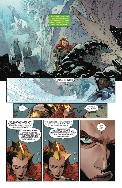 Aquaman #53 art by Robson Rocha, Eduardo Pansica, Daniel Henriques, Julio Ferreira, Sunny Gho, and letterer Clayton Cowles