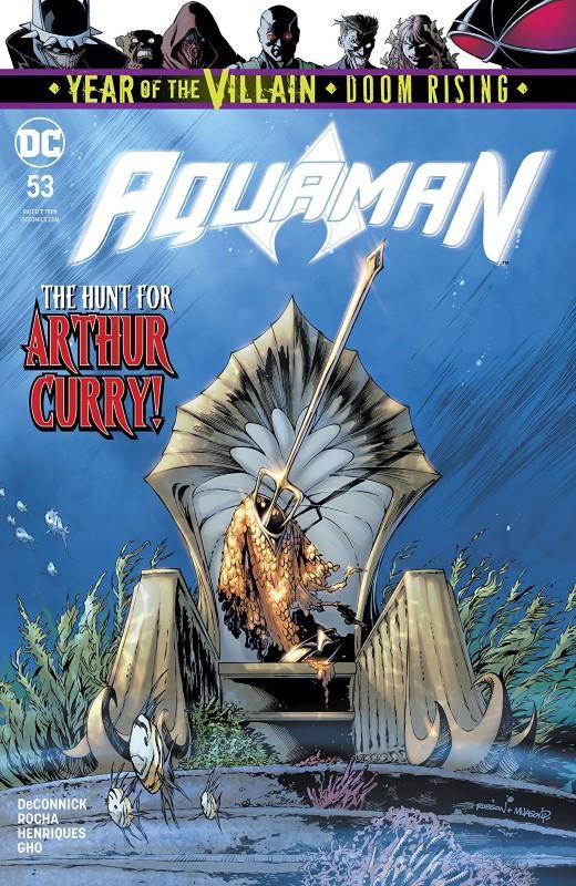 Aquaman #53 cover by Robson Rocha, Jason Paz, and Alex Sinclair