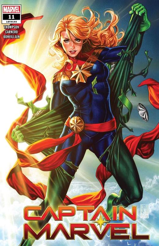 Captain Marvel #11 cover by Mark Brooks