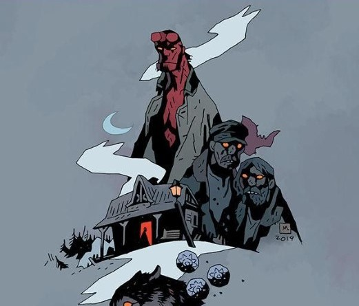 Hellboy and the B.P.R.D: Long Night at Golinski Station #1 cover by Mike Mignola and Dave Stewart