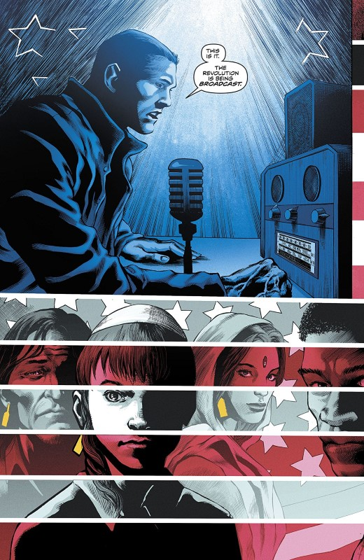 Freedom Fighters #11 art by Eddy Barrows, Eber Ferreira, and Adriano Lucas with letters from Andworld Design
