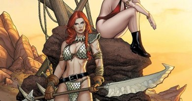 Vampirella/Red Sonja #3 cover by Frank Cho and Sabine Rich