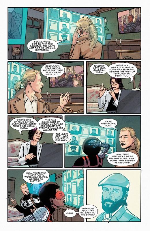 Captain America #17 art by Jason Masters, Matt Milla, and letterer VC's Cory Petit