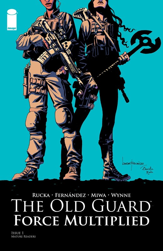 Old Guard: Force Multiplied #1 cover by Leandro Fernández and Daniela Miwa