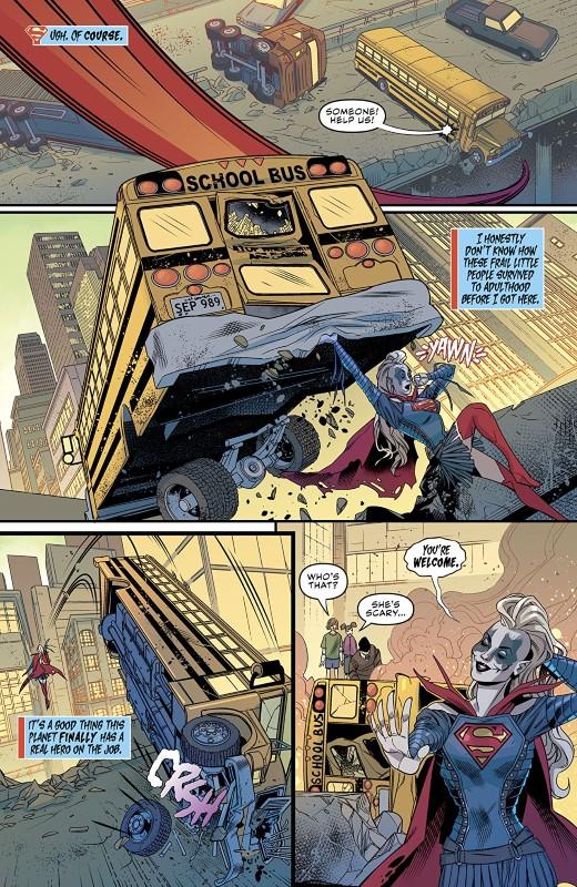 Supergirl #37 art by Rachael Stott, Cris Peter, and letterer Tom Napolitano