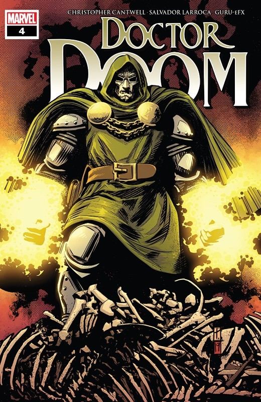 Doctor Doom #4 cover by Tomm Coker and Michael Garland