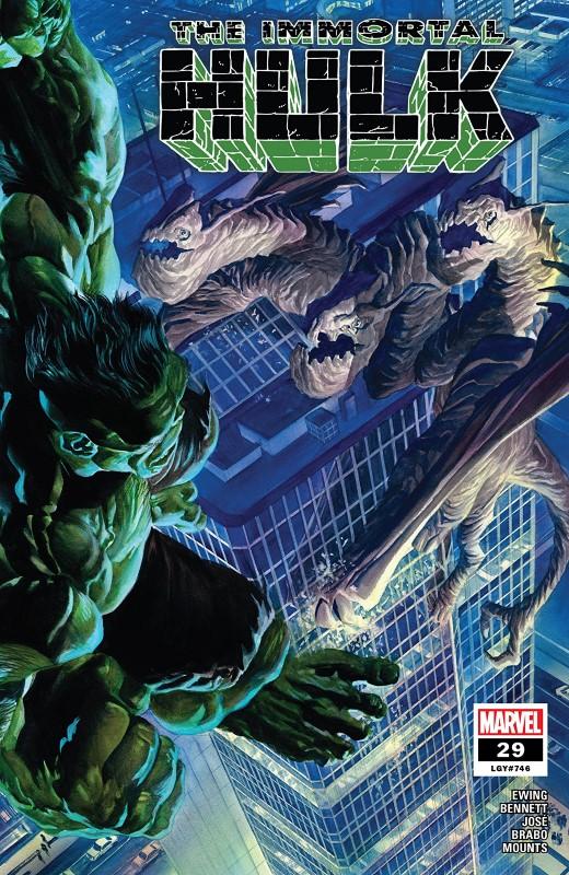 Immortal Hulk #29 cover by Alex Ross