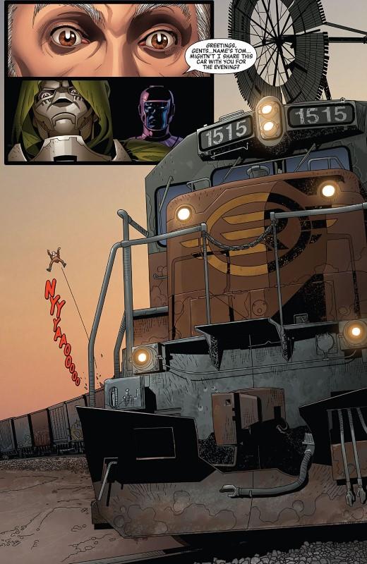 Doctor Doom #6 art by Salvador Larroca, Guru-eFX, and letterer VC's Cory Petit