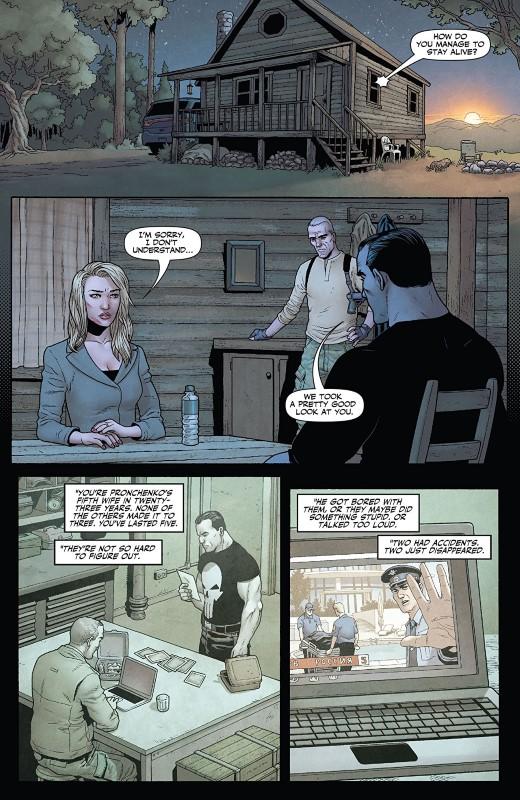 Punisher: Soviet #4 art by Jacen Burrows, Guillermo Ortego, Nolan Woodard, and letterer Rob Steen