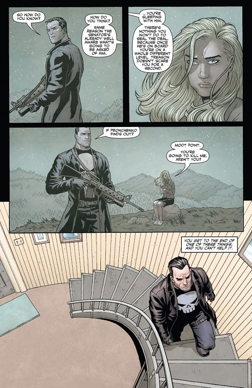 Punisher: Soviet #6 art by Jacen Burrows, Guillermo Ortego, Nolan Woodard, and letterer Rob Steen