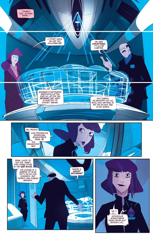 Shoplifters Will Be Liquidated #5 art by Stefano Simeone and letterer Hassan Otsmane-Elhaou