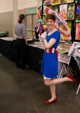 Female Victorian-Era Captain America
