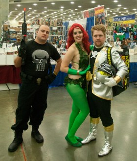 Punisher, Poison Ivy, and...I'm Not sure