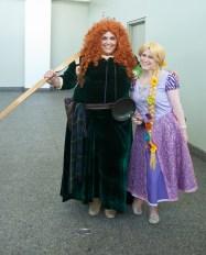 Princess Merida and Rapunzel