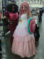 Garnet and Rose Quartz