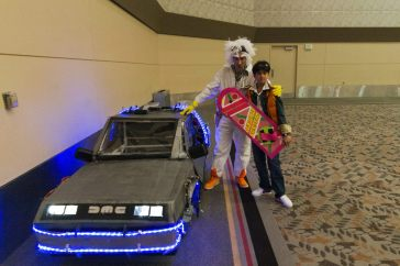 Doc and Marty by the Delorean