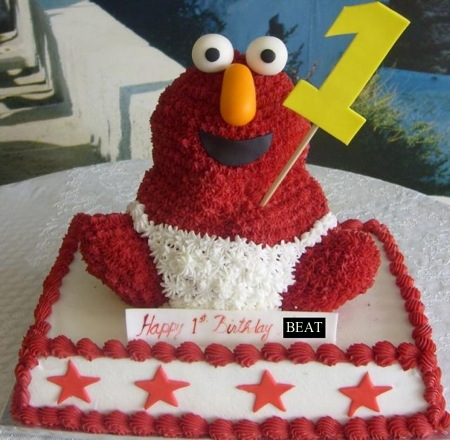 Baby elmo birthday cake for one-year-old.JPG