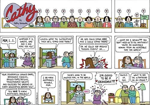 Cathy comic strip irving