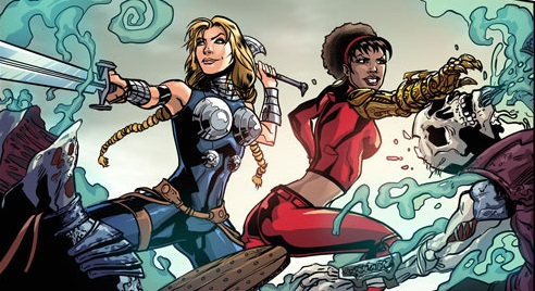 FearlessDefenders_1_Preview2-by-Will-Sliney-Valkyrie-Misty-Kick-Ass-2