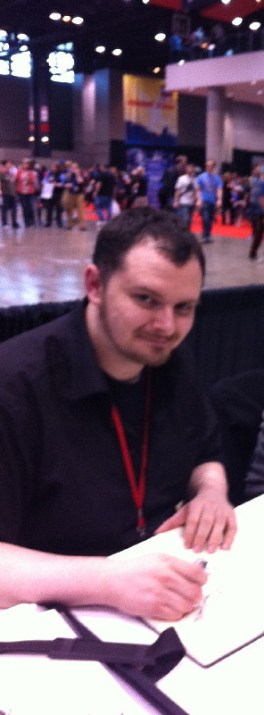 Declan Shalvey, now on the Punisher. I had to crop our tablemate Jordie Bellaire who could not be photographed.