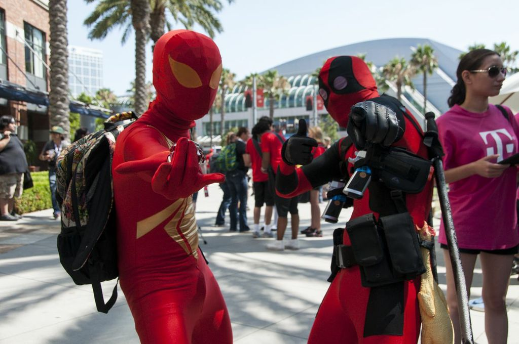 SDCC, SDCC2013, San Diego Comic Con, Spider-man, Deadpool, cosplayers