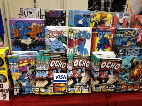 All the Ocho comics by Eric Mengel - Photo by Henry Barajas