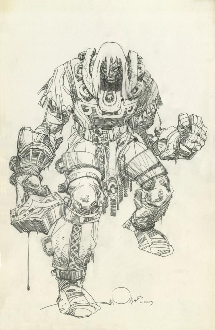 Ragnarok pencils by Walter Simonson