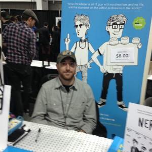 Hunter Fine with his new comic Nerd Pimp.