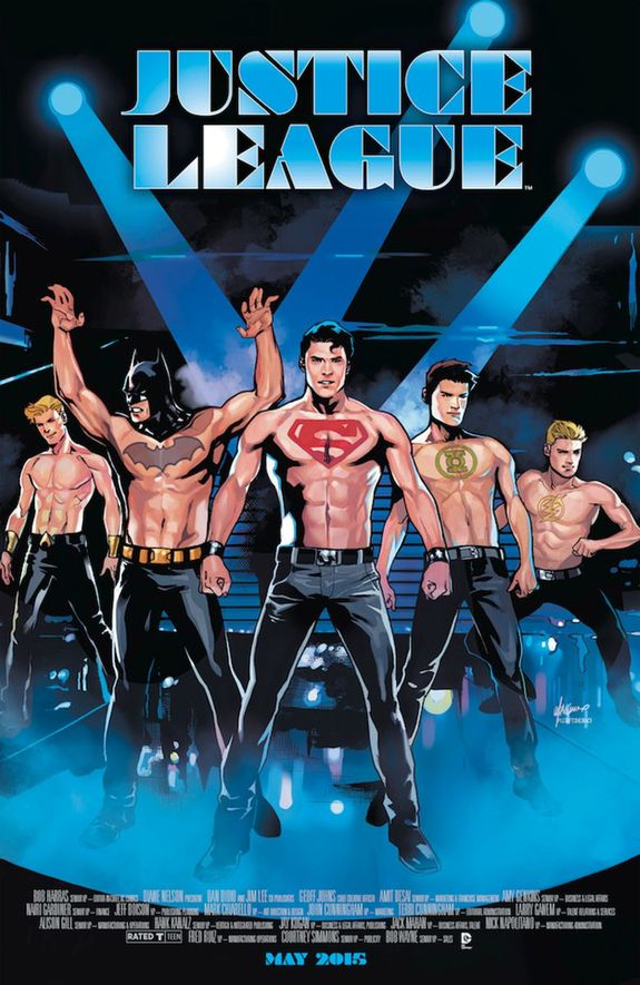 Justice League Magic Mike