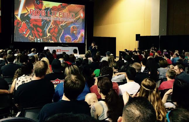 Deadpool aka Rob Liefeld Panel. Photo by Henry Barajas