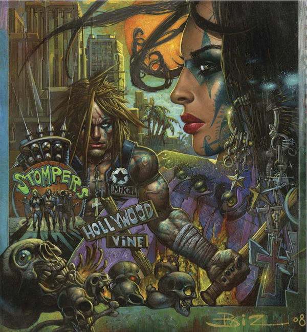 Art for Lost Angeles by frequent Eastman collaborator Simon Bisley, via CBR