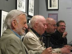 Jerry Robinson, Irwin Hasen, Jules Feiffer and Danny Fingeroth.