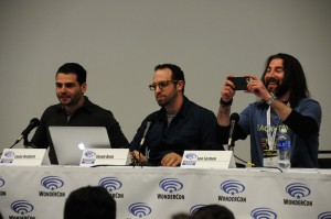 Left to right: Louis Krubich, Jason Aron, Lee Leshen.