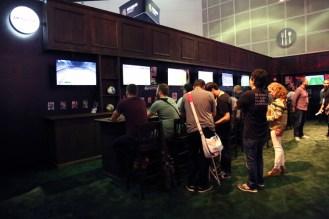 PES Soccer bar inside Konami booth