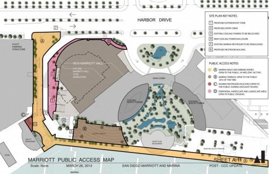 San Diego Marriott Hall Marriott_public_access_map